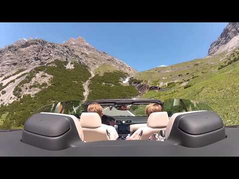 Maserati GranCabrio crusing in Passo Stelvio