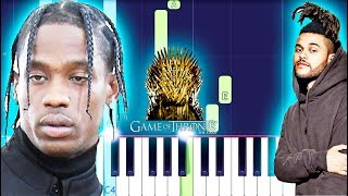 SZA, The Weeknd & Travis Scott - Power Is Power (Piano Tutorial) Game Of Thrones