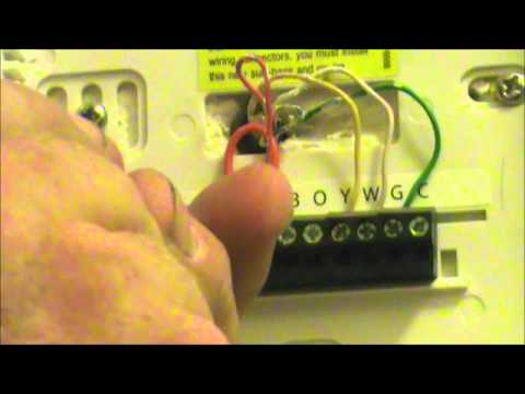 hqdefault fix my own ac how to change a thermostat youtube hunter thermostat 44155c wiring diagram at alyssarenee.co