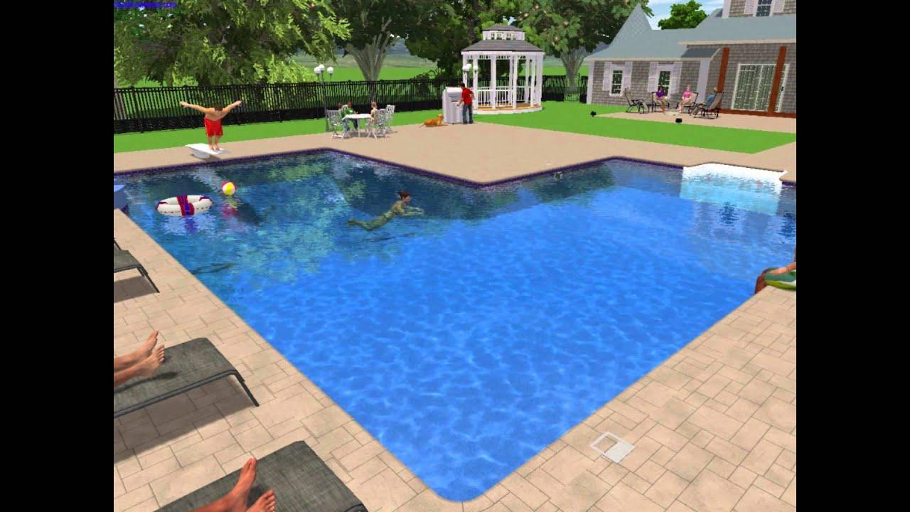 3d swimming pool design 3d inground pool design inground 3d