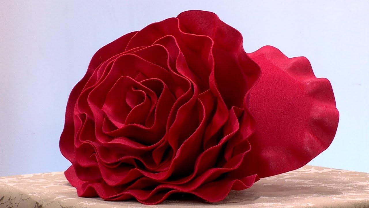 Como Hacer Flor Gigante en Foami- HomeArtTv por Juan Gonzalo Angel - YouTube