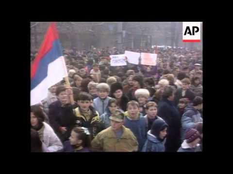 Bosnia - Sarajevo Handover Decision Protest