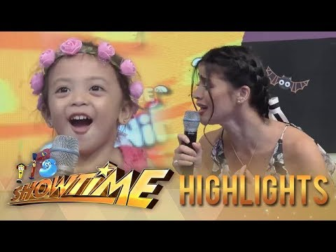 It's Showtime MiniMe 3: Aina is mesmerized of Anne's voice