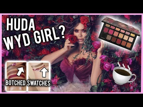 HUDA BEAUTY TRIES IT! 鈳� BOTCHED ROSE GOLD REMASTERED PALETTE SWATCHES