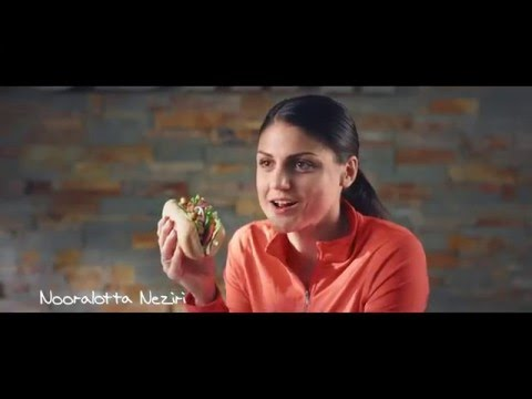 """""""Subway Kana Fajita avokadolla ja Nooralotta Neziri"""" -tv-mainos"""