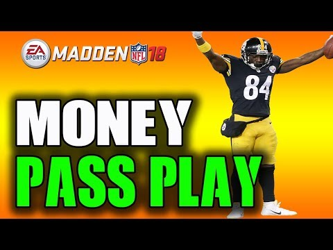 THIS SHORT PASS PLAY CANT BE STOPPED!! MADDEN 18 MONEY PLAY!!
