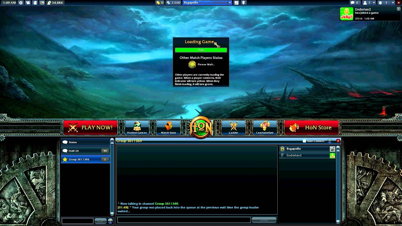 Heroes Of Newerth Cant Join Matchmaking