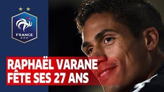 Raphaël Varane fête ses 27 ans Equipe de France I FFF 2020