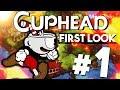 First Look: Cuphead Gameplay Walkthrough w/Lec (1080p 60fps)