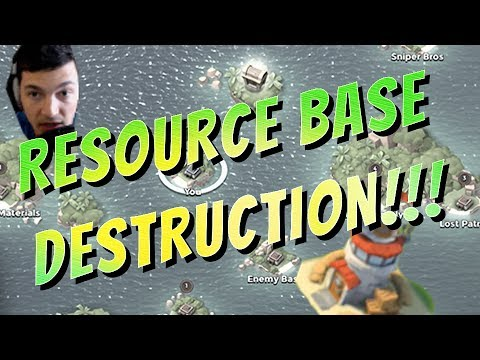 Resource Bases Destruction! - Taking Base Islands! - Boom Beach Let's Play!