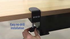 MOUNT-KB05F Under-desk clamp on keyboard tray by VIVO