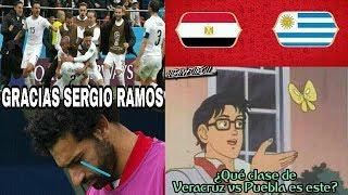 MEMES EGIPTO VS URUGUAY 0-1 MUNDIAL RUSIA 2018 | SALAH SIN JUGAR