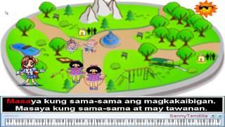 Masaya Kung Sama-sama - Nursery Rhymes   Filipino Children Song (Karaoke)
