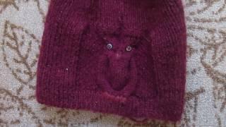 ВяжиСоМной: Теплая шапка с совой спицами!
