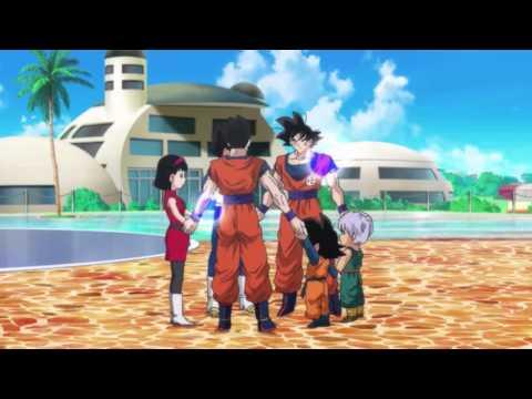 DBZ Battle of Gods: Videl is pregnant and Goku becomes a Super Saiyan God (1080p HD)