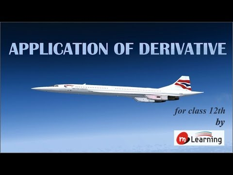 Introduction: Application of Derivatives - Class 12th & IIT-JEE - 01/40