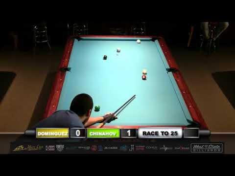Oscar Dominguez (USA) Vs Ruslan Chinahov (Russia) 10 Ball Pool - Race to 25 for $25,000.00