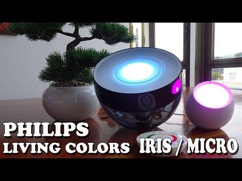 TEST PHILIPS LED LEUCHTE LIVING COLORS IRIS Vs MICRO