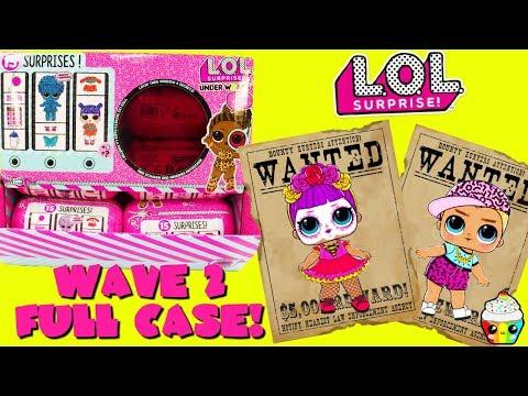 LOL Surprise Under Wraps WAVE 2 FULL CASE + Complete Wave 1 Collection