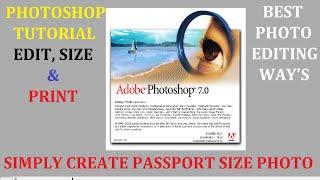 Wie Erstellen Passfoto l Adobe Photoshop Tutorial l Hindi