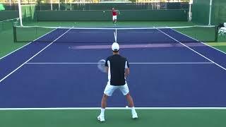 Большой теннис  Уроки Техника ударов  Тренировка