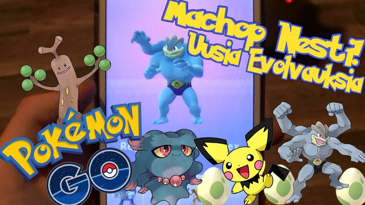 Pokemon GO Suomi - MACHOP NESTI! Uusia Evolvauksia! 5Km & 2Km Munia - YouTube