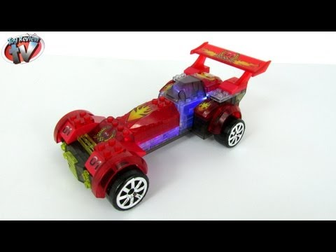 lite-brix-red-hot-racer-light-up-construction-toy-review,-cra-z-art