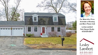 30 Ryan Drive, West Springfield, MA Presented by Lesley Lambert.