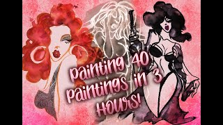 Painting 40 Paintings in 3 Hours During Live Dance Show!