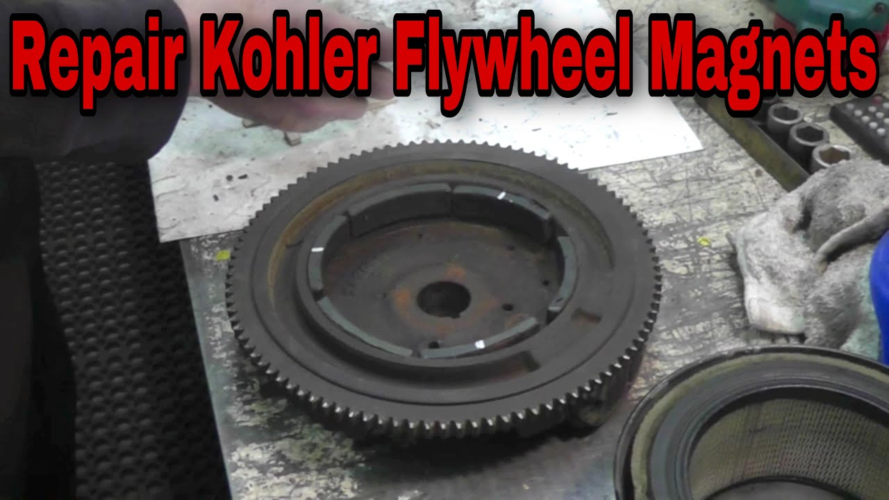 hight resolution of how to repair kohler flywheel magnets to fix charging system