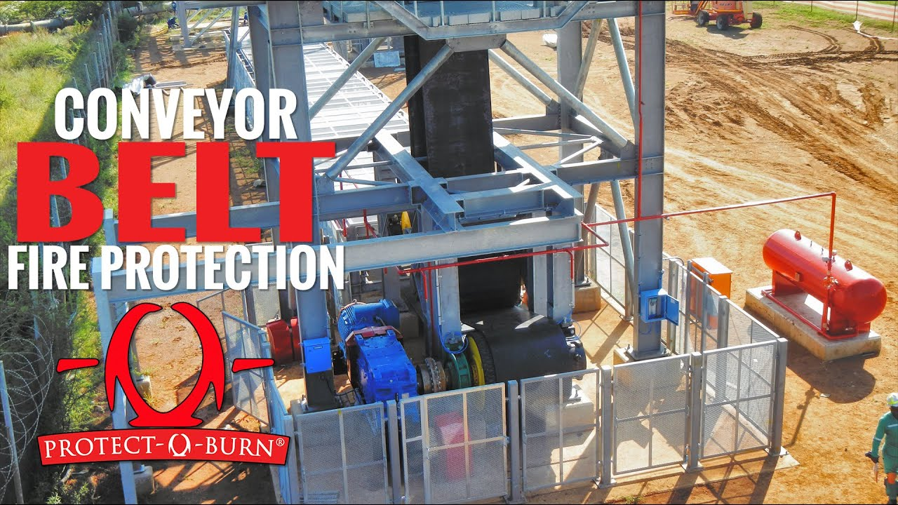 Conveyor Belt Fire Protection Youtube