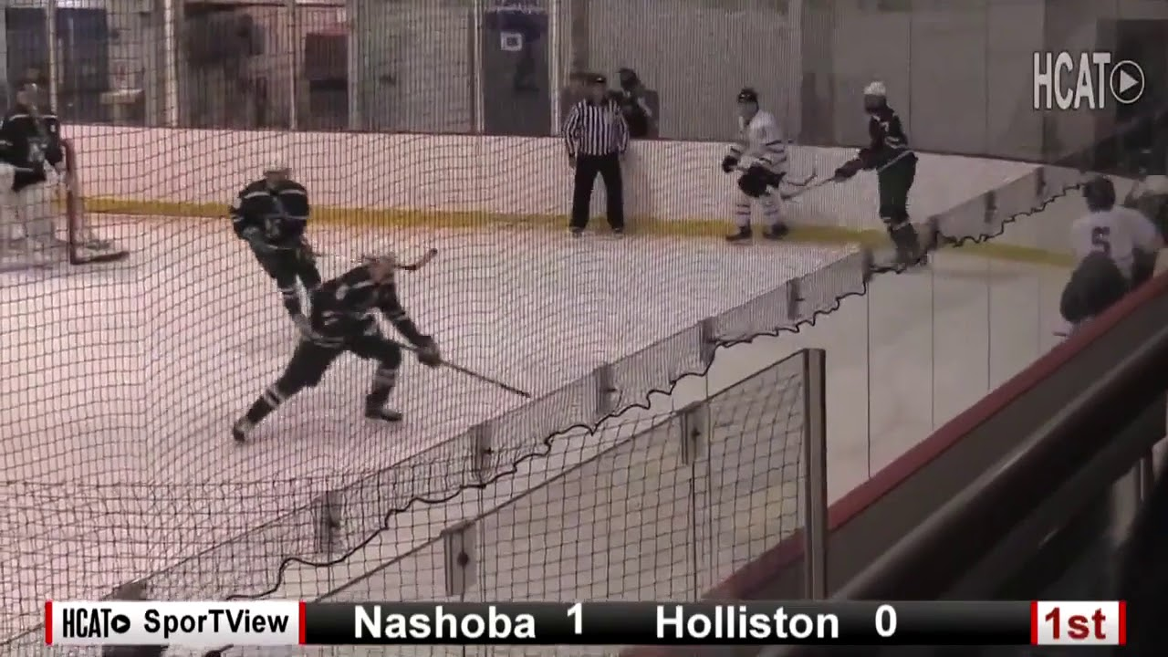 aa35679494c Boy s Varsity Hockey - Holliston vs. Nashoba - YouTube