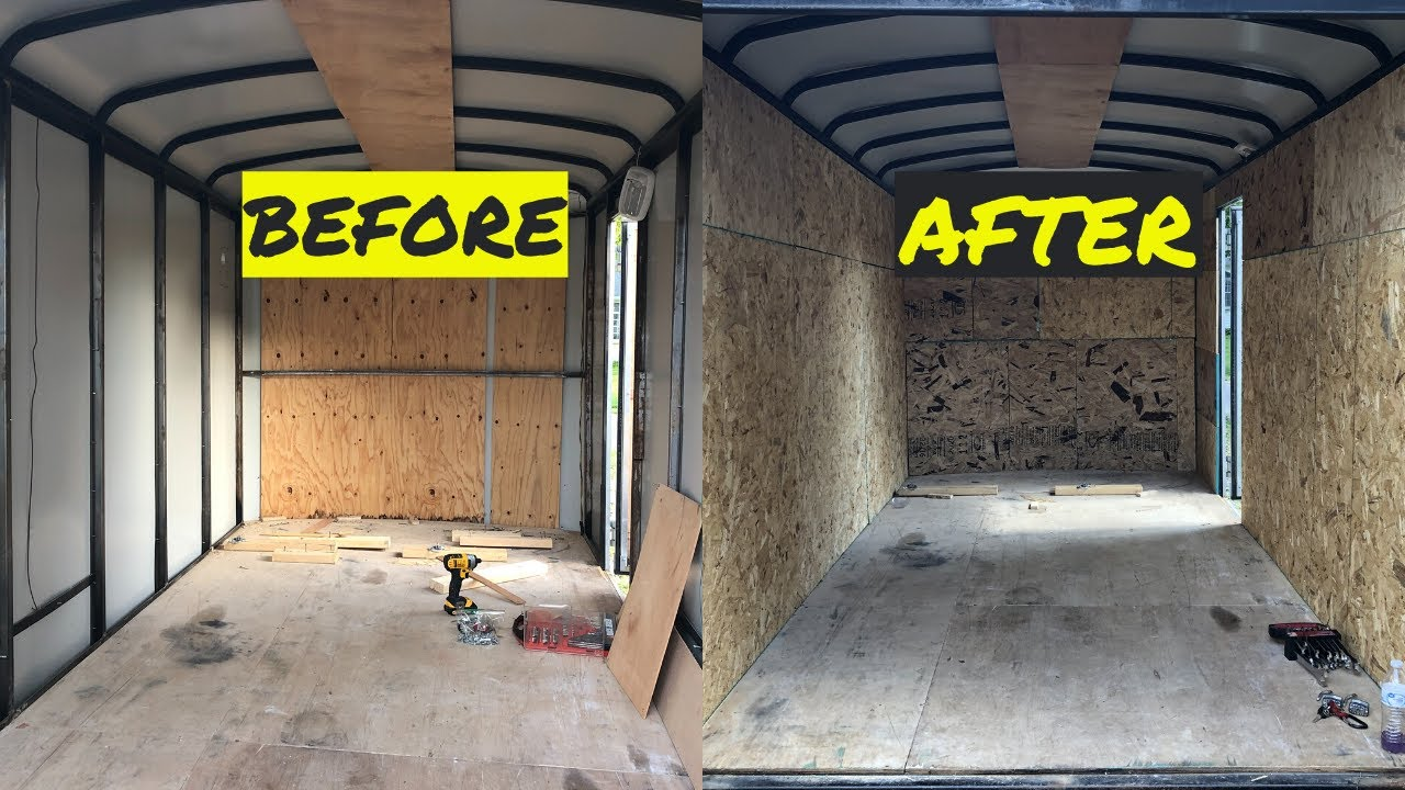 Installing Plywood Walls In An Enclosed Trailer Conversion Episode 2 Youtube