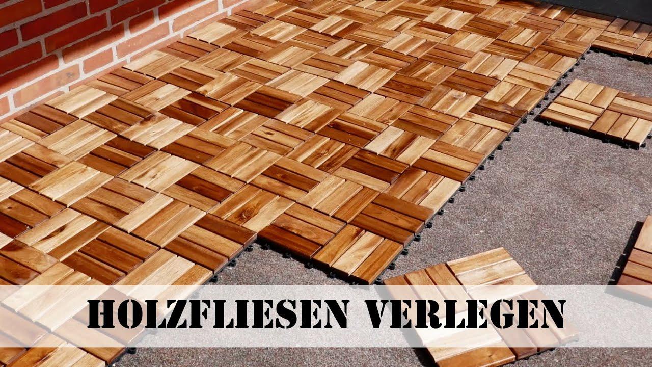 Holzfliesen verlegen Neuer Look für den Balkon