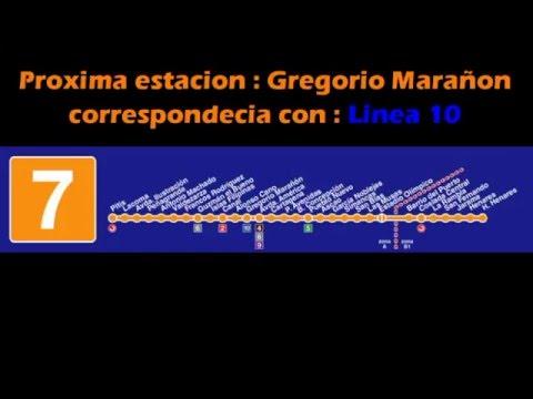 Metro De Madrid Megafonia Linea 7 Antigua 2016