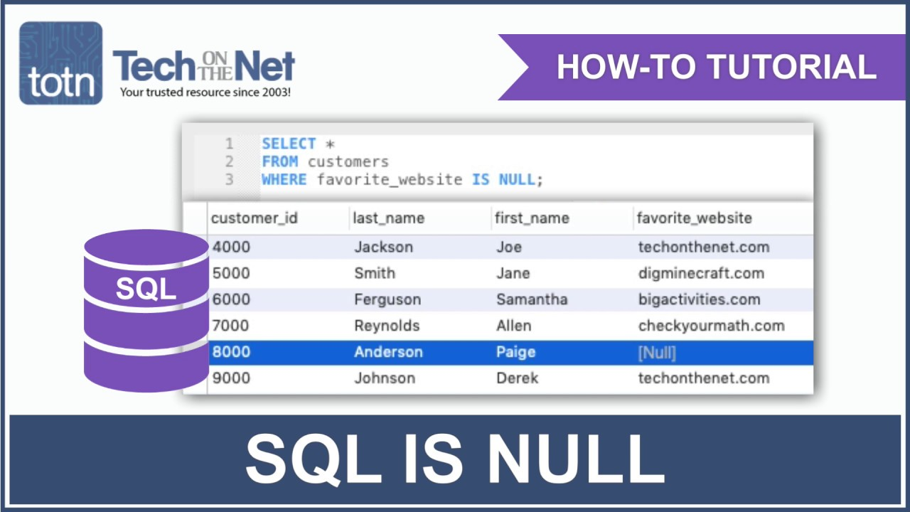 SQL: IS NULL Condition