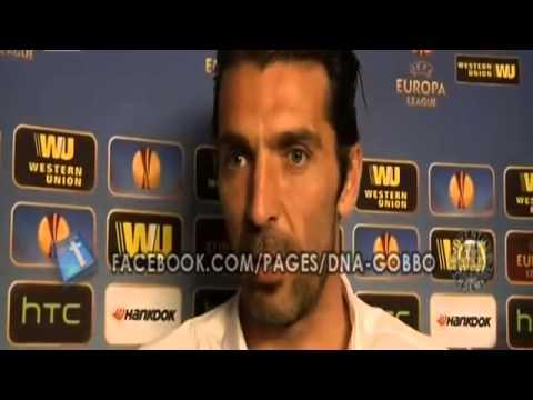"""Intervista a Buffon: """"Col Benfica sfida da Champions""""  Benfica VS Juventus 24/04/2014"""