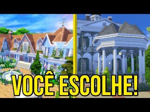 ESCOLHA MINHA NOVA MANSÃO! - The Sims 4 Estações
