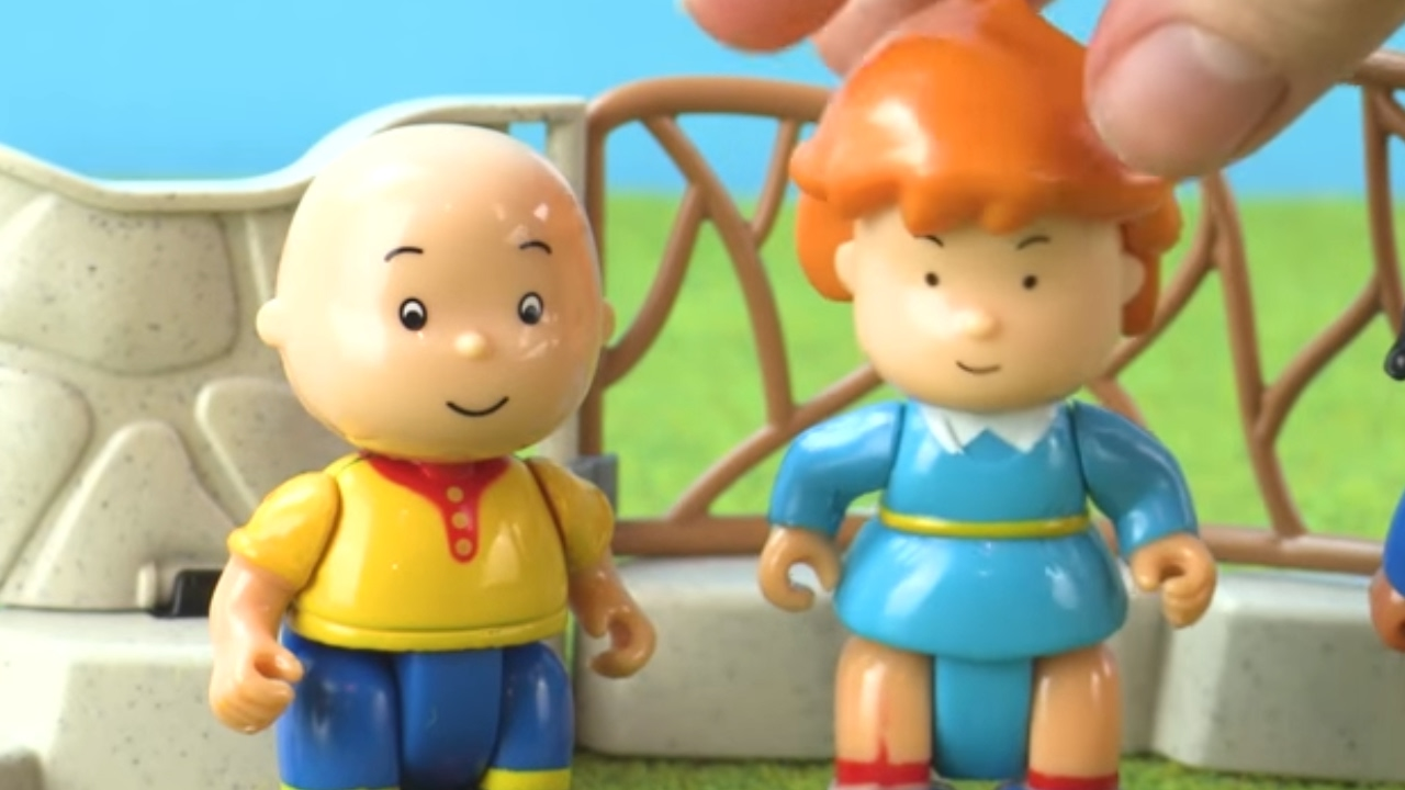 caillou and friends visit the zoo together! caillou funny animated