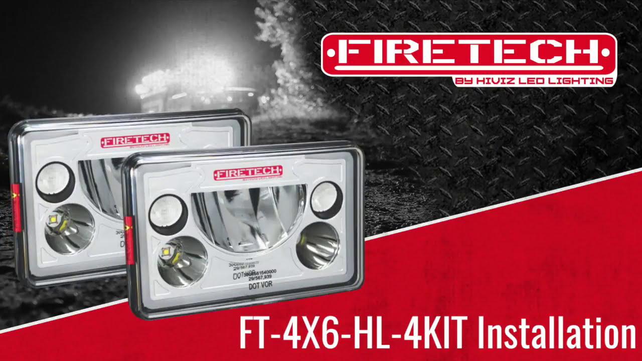 hight resolution of installing firetech 4x6 led headlights