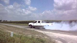smoking the tires off a 99 powerstroke f 350