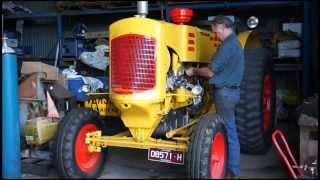Rare 1948 diesel Minneapolis-Moline 65hp tractor, first start-up in 12 months.