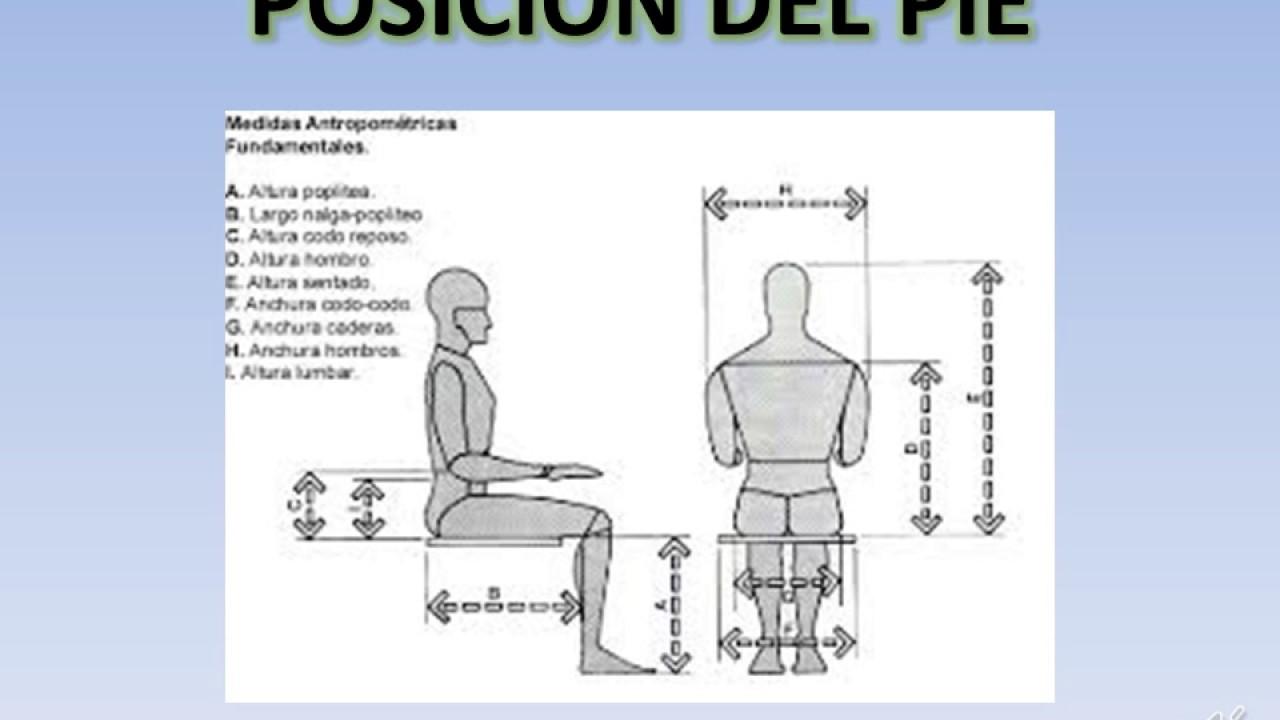 medidas antropom tricas para el dise o de una silla youtube