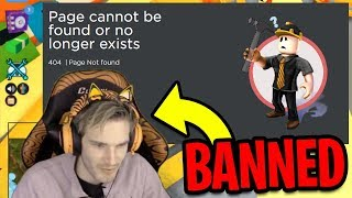 Roblox BANNED PewDiePie After Playing Roblox Jailbreak...