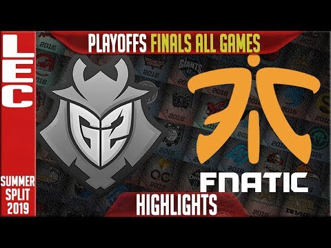 G2 vs FNC Highlights ALL GAMES | LEC Summeer 2019 Playoffs Grand finals | G2 Esports vs Fnatic