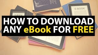 How to Download any eBook for FREE - Amazon Free Books