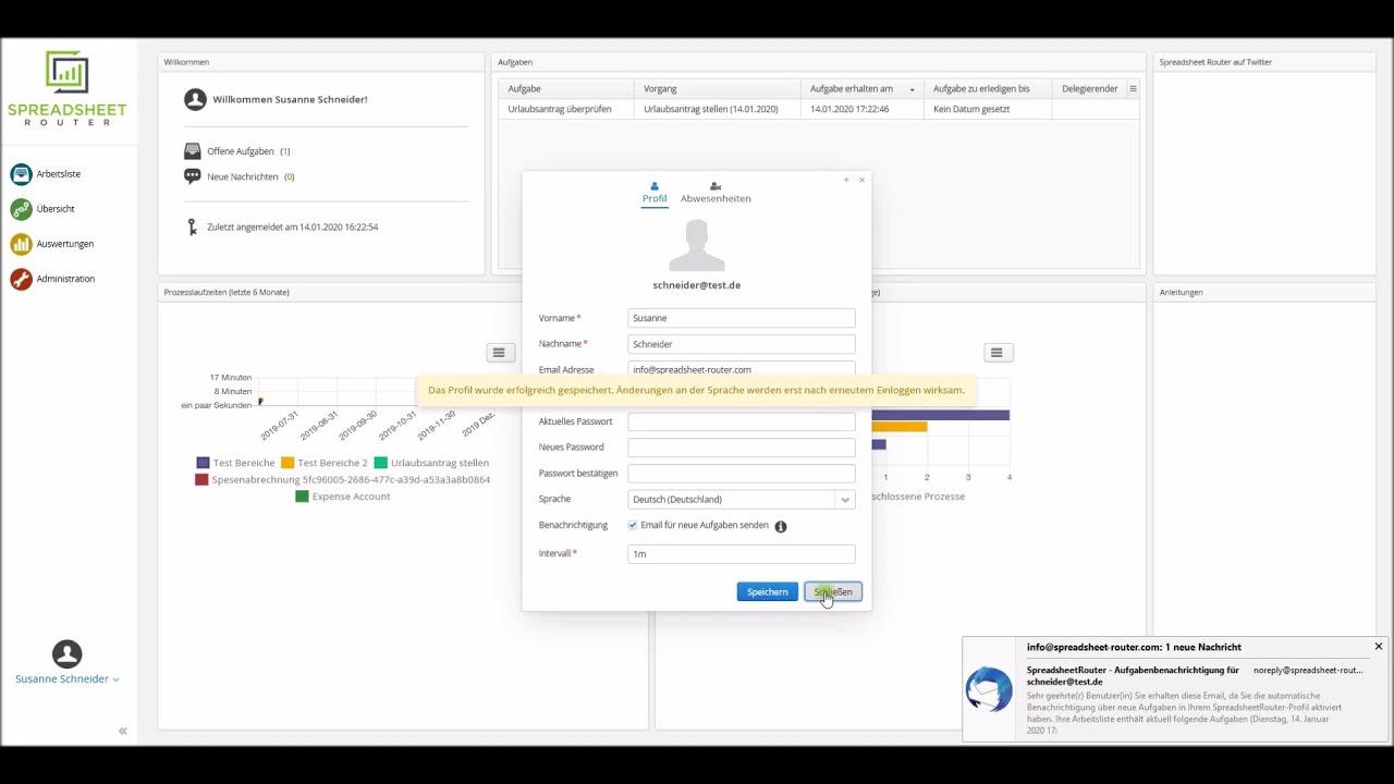 Youtube Video: Spreadsheet Router Tutorial: E-Mail Benachrichtigung bei anstehenden Aufgaben