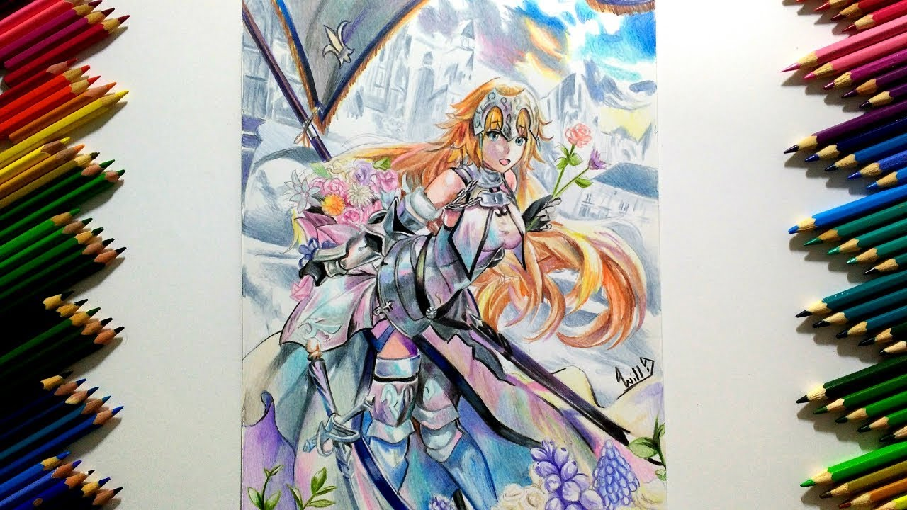 Drawing - Jeanne D'arc (Fate/Grand Order)