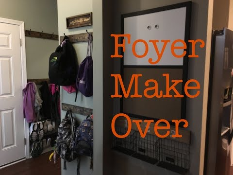 Foyer Make Over/DIY/Jacket, Shoe, and Backpack Organization System