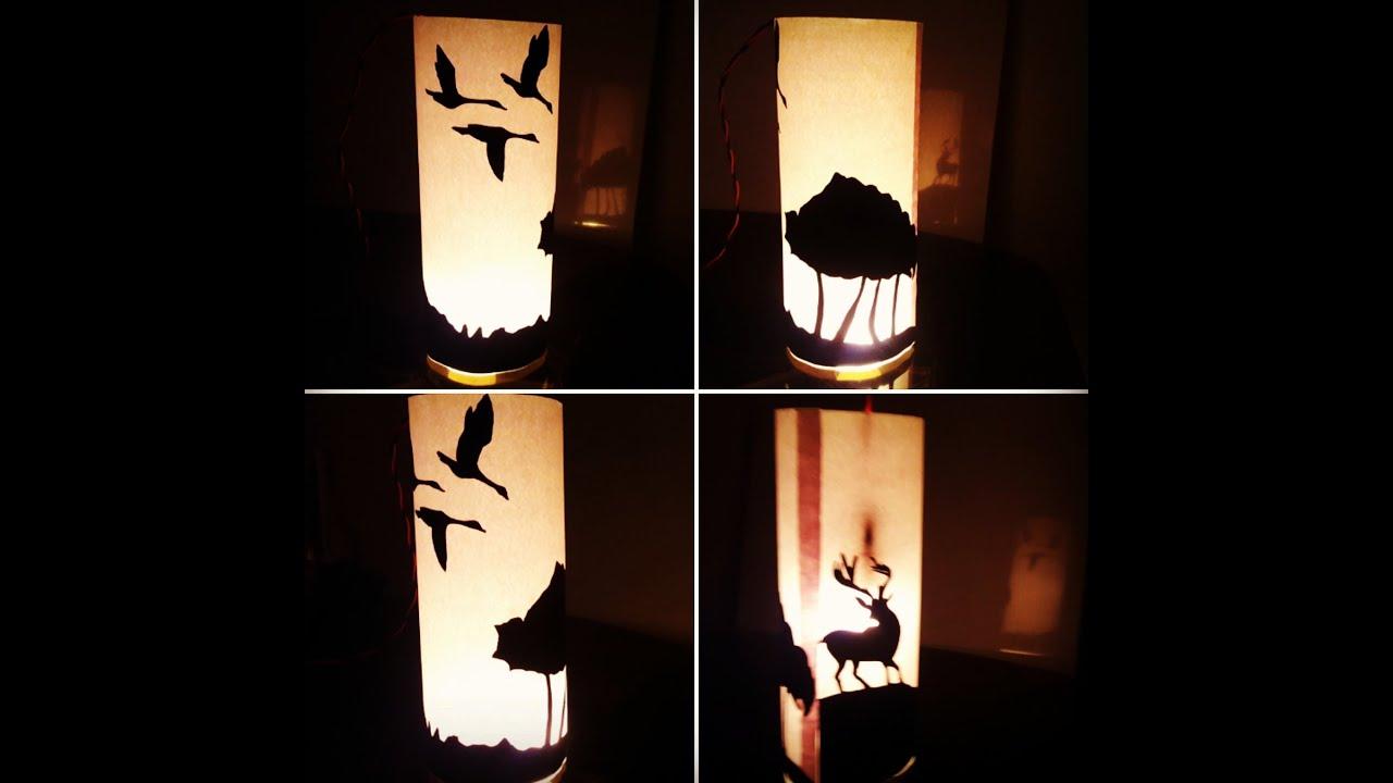 Making Silhouette Lampshade  Chalo Ghar Sajaayen - YouTube